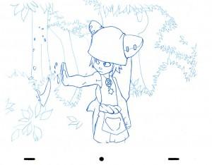 Animation au trait de Yugo tirée de l'épisode 2 de Wakfu