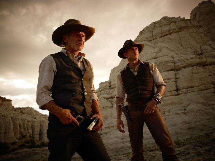 Harrison Ford et Daniel Craig dans le film Cowboys et Envahisseurs