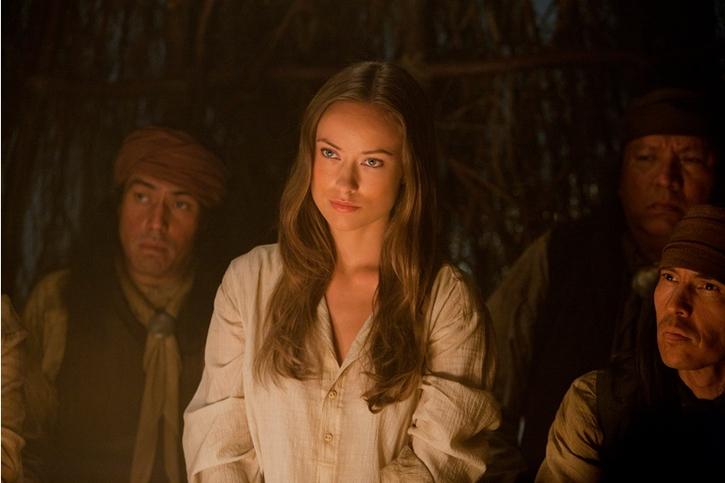 Olivia Wilde dans le rôle d'Ella dans le film Cowboys et Envahisseurs