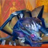 Kalecgos sous sa forme dragon dans le raid du puits de soleil
