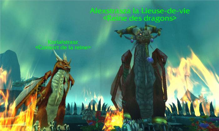 Korialstrasz et Alexstrazsa sous forme de de dragon après l'attaque du portail du Courroux