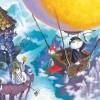 Illustration du livre pour enfants Shiro et les flammes d'arc-en-ciel ( Yukio ABE 2004 • BUNKEIDO Co., Ltd )