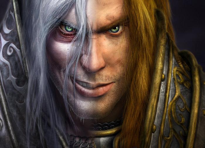 Arthas quand il est paladin puis transformé en chevalier de la mort (Warcraft)