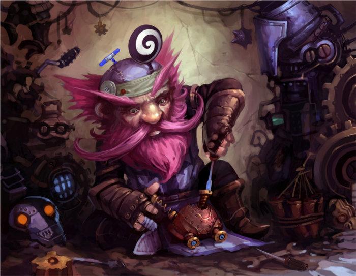 Gnome travaillant sur un cerveau mécanique (Warcraft)