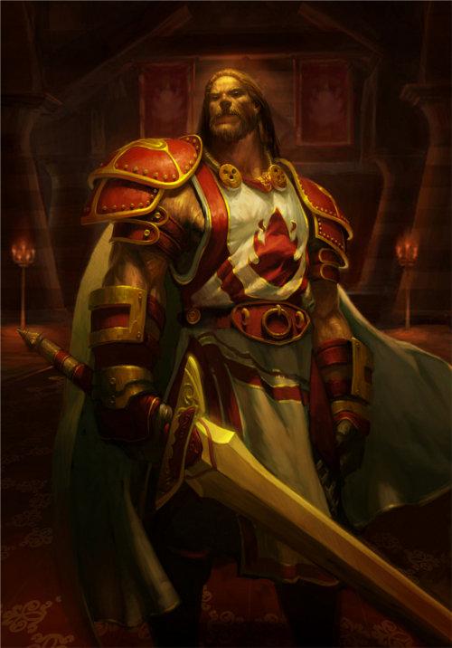 Un paladin de la croisade écarlate (Warcraft)
