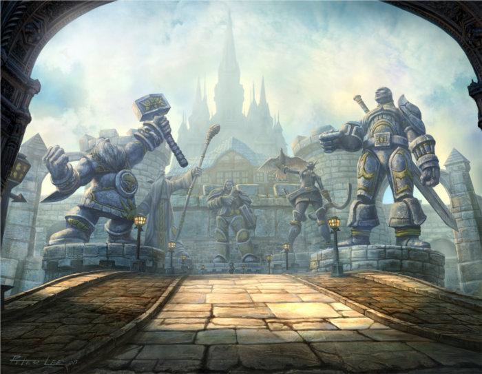 Vallée des héros à Hurlevent avec Turalyon, Alleria Coursevent (Warcraft)