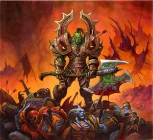 Orc sur un champ de bataille (Warcraft)