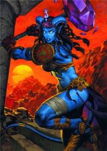 Une paladin draenei (Warcraft)