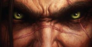 Varian sur la couverture du roman Wolfheart