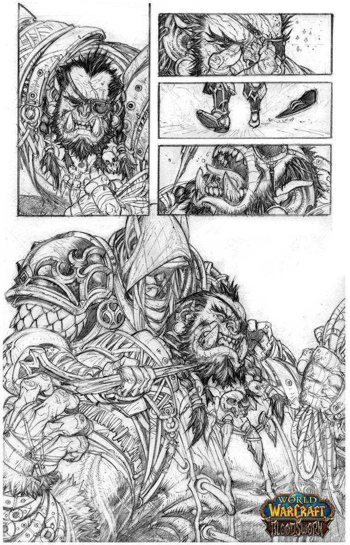 Crayonné par Raapack du comics Bloodsworn