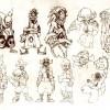 Croquis de recherche sur Kriss la Krass (art book Wakfu 5)
