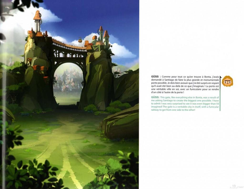 Le portail d'entrée monumental de Bonta (art book Wakfu 5)