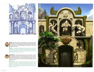 Entrée du musée du Boufbowl (art book Wakfu 5)