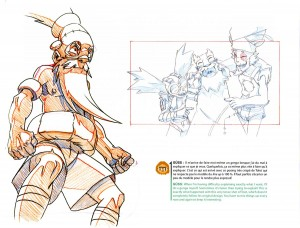 Poses clé de Tolot du Real Boitar (Art book Wakfu 5)