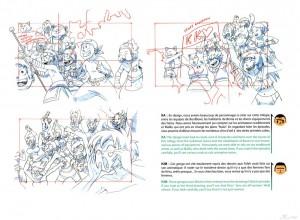 Crayonnés de la foule du stade de Boufbowl (Art book Wakfu 5)