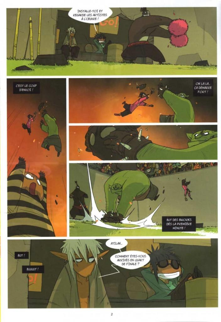 Page 4 du Comics Boufbowl n°2 (Wakfu)