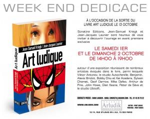 Carton invitation au livre Art Ludique