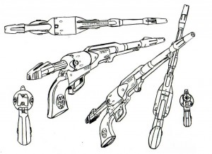 Cosmo Dragoon Model Sheet (Albator - Harlock)