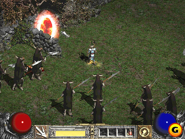 Screenshot du niveau caché des vaches de Diablo 2