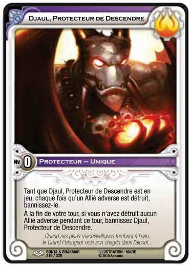 Djaul gardien de Descendre (carte Wakfu TCG)
