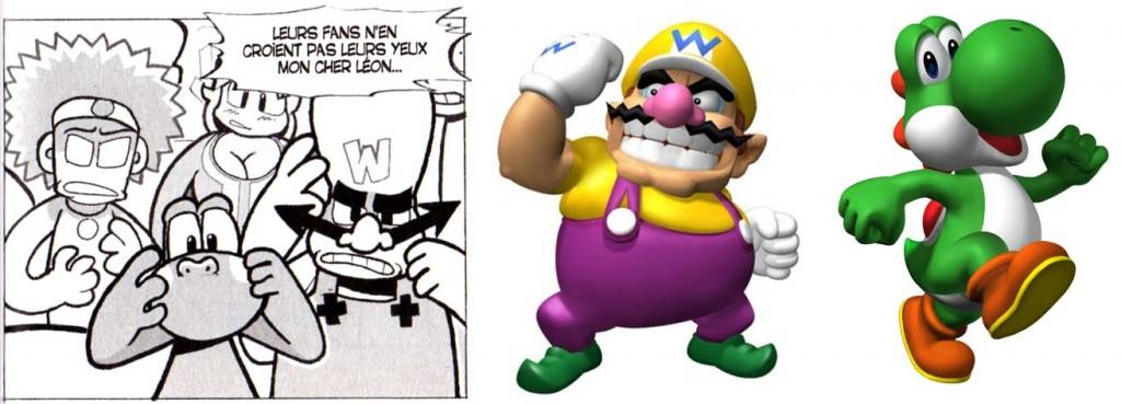 Ces deux personnages sont des allusions à Wario et Yoshi (Dofus - tome 4)