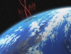 La terre se volatilise lorsque le rayon la touche (Herlock, Endless odyssey)