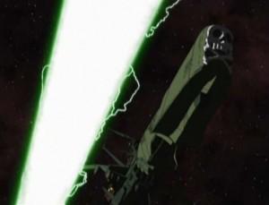 L'Arcadia évite les lasers (Albator - Herlock, Endless odyssey)