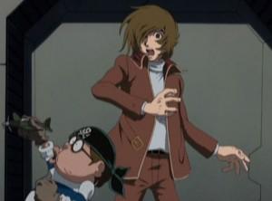 Yattaran est mentalement un gamin immature fan de maquettes Tadashi réalise que l'équipage est composé d'alcooliques (Herlock, Endless odyssey - Albator)
