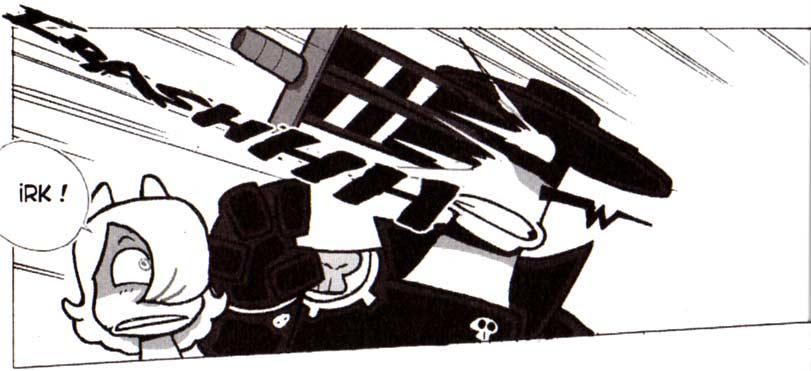 Ewesson Smisse est tué par Dodge (Dofus tome 5)