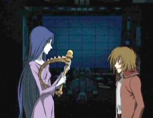 Tadashi est accueilli par Miimé (Albator - Herlock, Endless odyssey - Episode 03)
