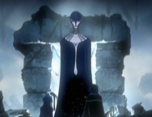 La gardienne des ruines sort du portail (Albator - Herlock, Endless odyssey - Episode 03)