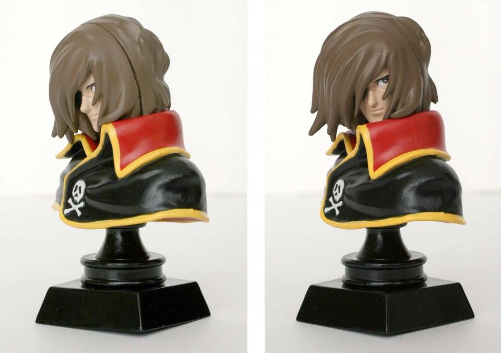 La tête du buste Albator est mobile (Gashapon Bandai)