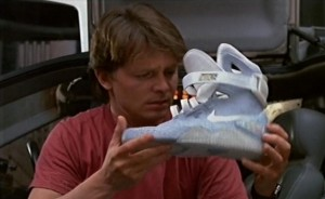 Marty McFly et ses Nike futuristes - Retour vers le futur 2