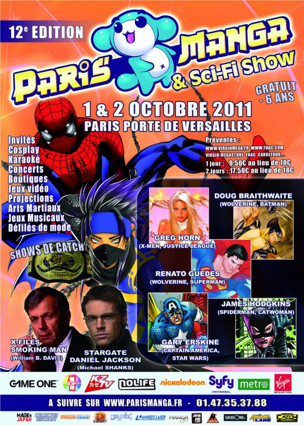 affiche Paris Manga version sci-fi