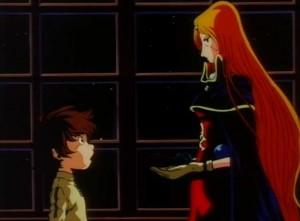 Emeraldas offre un Cosmo Dragoon à Hiroshi Umino (Albator - Harlock)