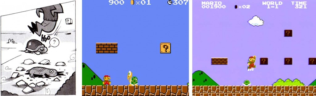 Super Mario Bros saute sur les tortues