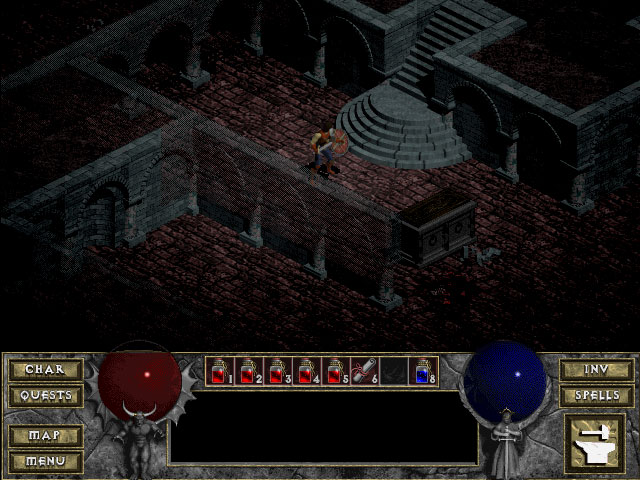 Diablo 1 : image de la cathedrale (source : diablo Wiki)