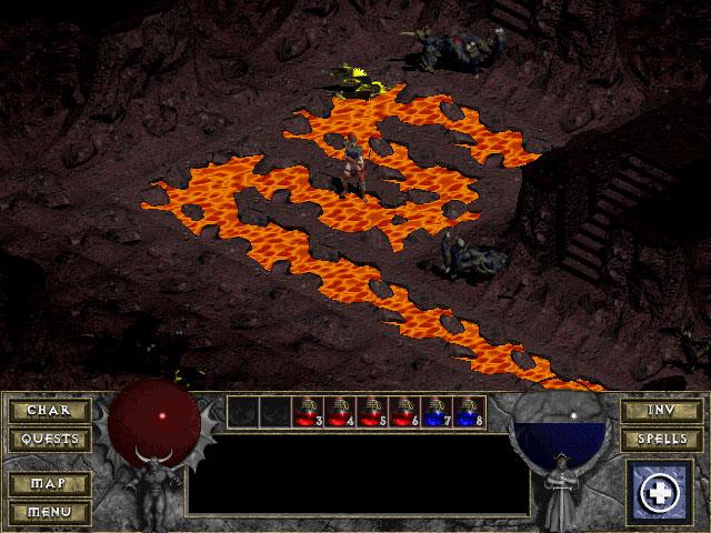 Diablo 1 : image des caves (source : diablo Wiki)