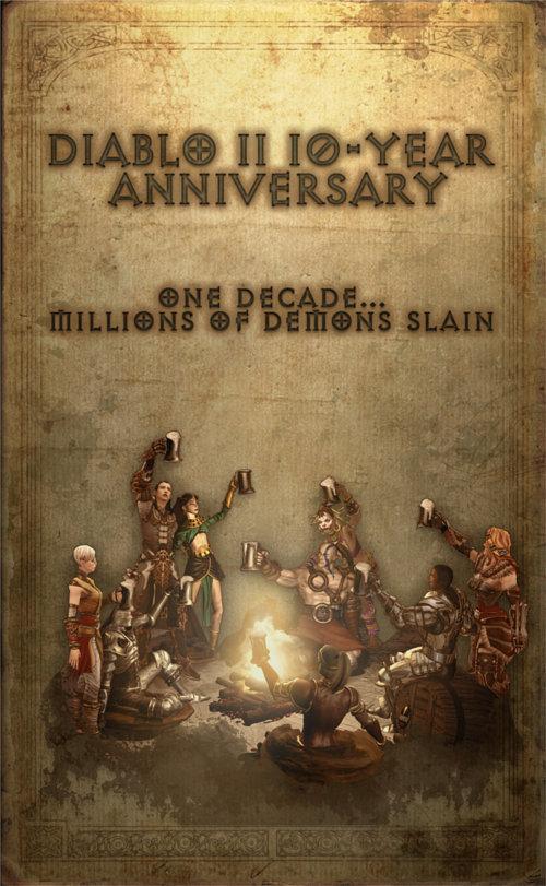 Image de Diablo 2 pour fêter la sortie du jeu