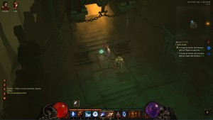 Entrée d'un niveau dans Diablo 3