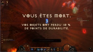 Ecran de mort dans Diablo 3