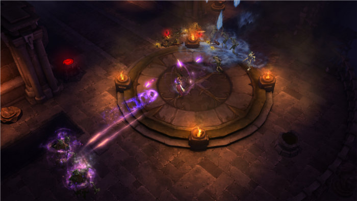 Une sorcière visitant un souterrain dans Diablo 3