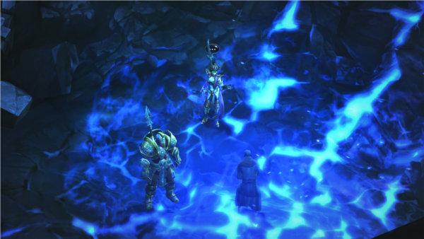 Image de Diablo 3 avec la sorcière avec un templier