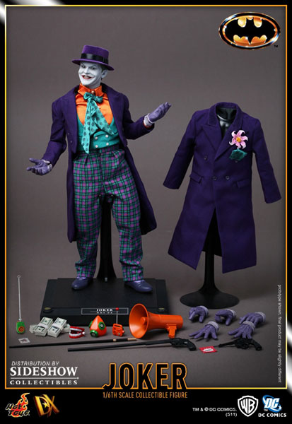 Image des accessoires du Joker du film Batman (version de 1989, Tim Burton) par Hot Toys