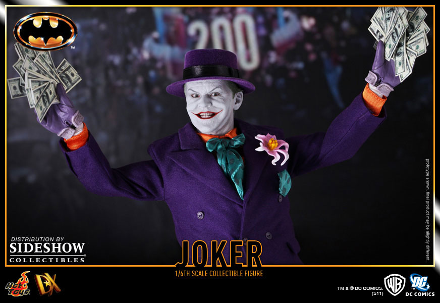 Image de la figurine du Joker du film Batman (version de 1989, Tim Burton) par Hot Toys
