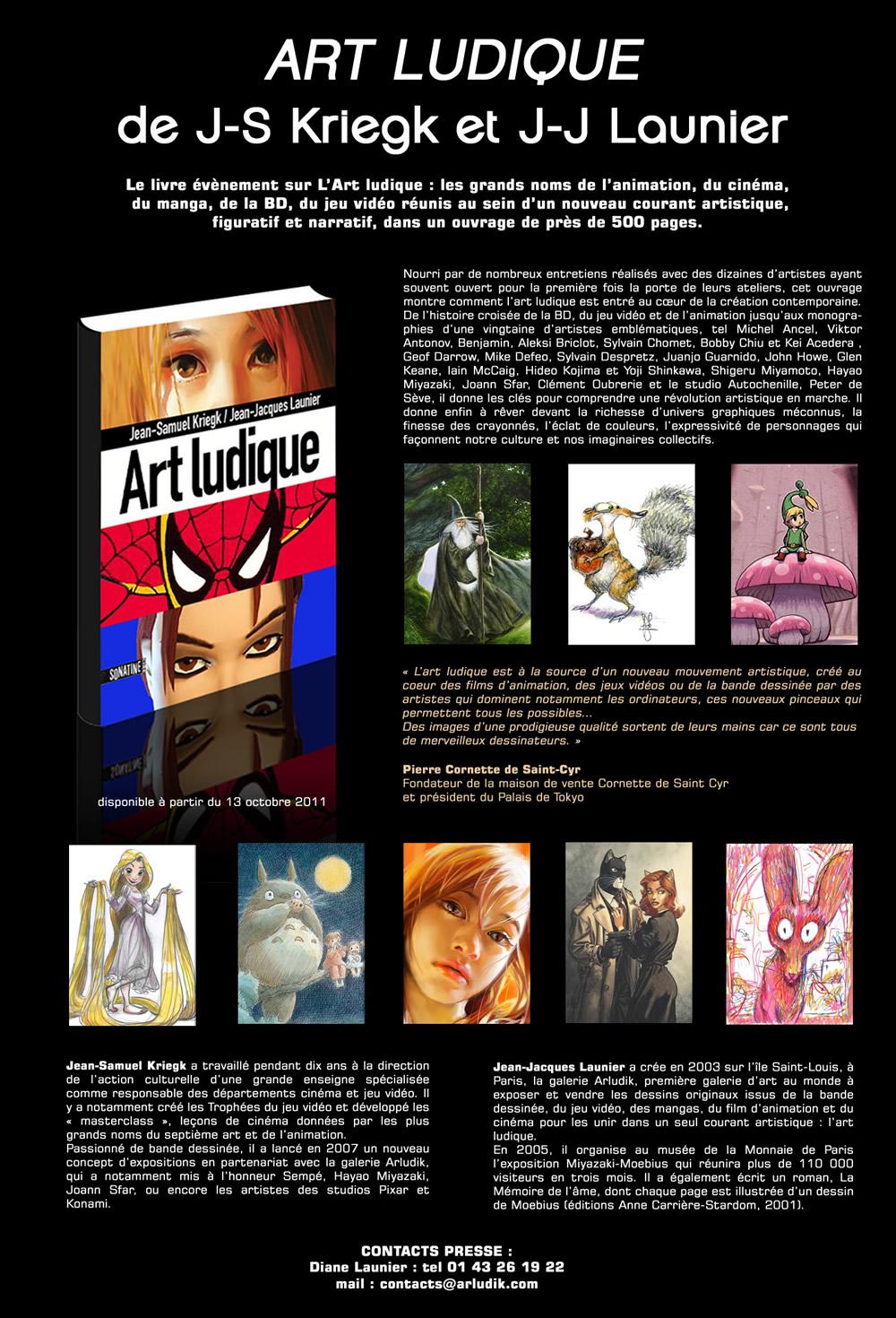 Présentation officiel du livre Art Ludique