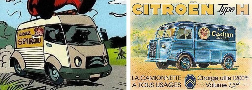 cette fourgonnette est un clin d'œil au Citroën Type H - Alerte aux Zorkons (Spirou et Fantasio - tome 51)