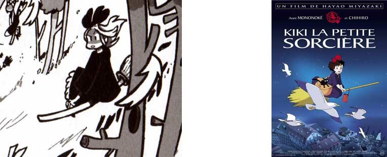 Le personnage de Kiki est inspiré de Kiki la petite sorcière (Dofus Tome 6)