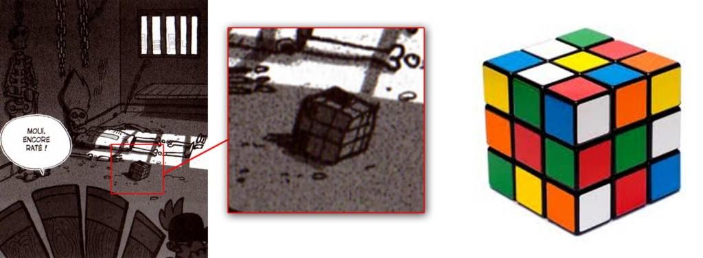 Dans la prison on peut voir un Rubik's Cube (Dofus Tome 7)