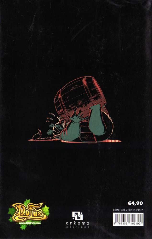 Zatoïshwan : Dofus Monster Tome 7 (dos de couverture)